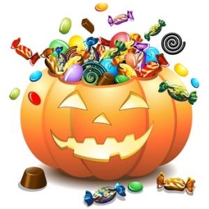 Halloween Zucca e Caramelle-Halloween Pumpkin and Candies-Vector